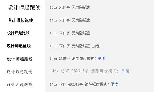 转载]在网页设计中常用的几种中文字体_明猪の景观设计地10亩图片